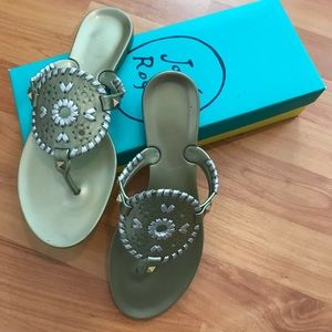 Gold & Silver Jack Rogers Jelly Sandals